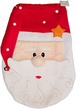 Lioobo 1pc Christmas Santa Claus Toilet Seat Cover Soft Toilet Mat Toilet Lid Cover For Hotel Home Christmas Decorations Xmas Home Improvement