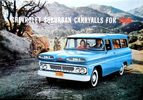 (BEAUTIFUL 1960 CHEVROLET SUBURBAN, CARRYALL & PANEL TRUCK BEAUTIFUL DEALERSHIP SALES BROCHURE - CHEVY ADVERTISMENT LITERATURE 60)