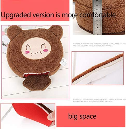 Warm Mouse Pad Safe USB Heating-Brown YLHLZZ Heated Mouse Mat USB Port with Wristguard Creative Plush Cartoon Mouse Pad