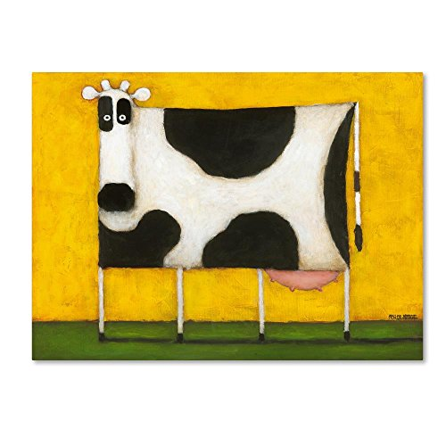 - Yellow Cow by Daniel Patrick Kessler, 24x32-Inch Canvas Wall Art