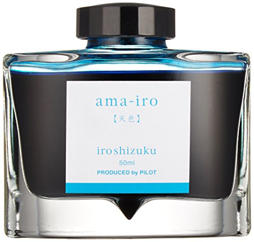 Pilot Iroshizuku Fountain Pen Ink - 50 ml Bottle - Ama-iro Sky Color (Sky Blue) (japan import)