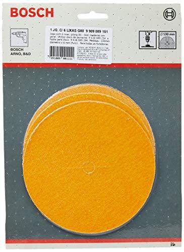 Bosch 9909089151-000, Jogo com 6 Lixas Grana 8, Amarelo