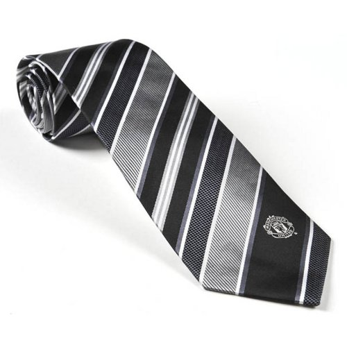 manchester-united-football-club-official-soccer-gift-silver-black-white-tie