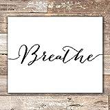 Relax Soak Unwind Breathe Wall Art Bathroom Decor