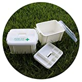 YONGCUN First Aid Box Emergency Medicine, First Aid Storage Container Box (First Aid Box M)