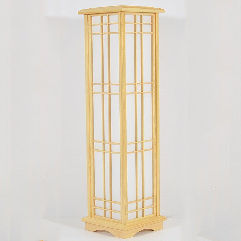 Stehleuchte Einfache Holz Wohnzimmer Restaurant Schlafzimmer Stehlampe Chinesische Massivholz Stand Lampe Größe: 25 * 25 * 90cm (Farbe : A) Shou S