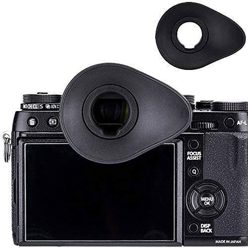JJC Oval Shape Eyecup Eyepiece Eyeshade for Fujifilm Fuji X-T3 X-T2 X-T1 X-H1 GFX 50S (EVF-GFX1) Camera Viewfinder, Replaces Fujifilm Eye Cup EC-XT L/EC-XT M/EC-XT S/EC-GFX/EC-XH ()