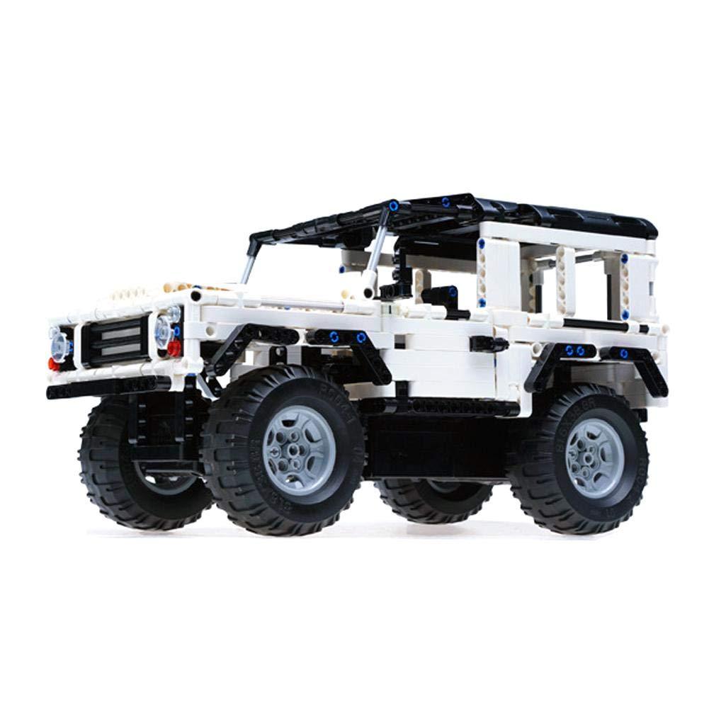 Househome Baustein Fernbedienung Auto, Land Rover Defender C51004 Geländewagen Montiert DIY Montiert Puzzle Kinderspielzeug