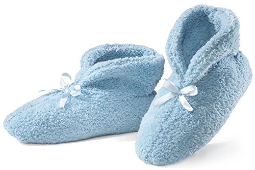 Ultra Plush Chenille Slippers, Blue, X-Large ()