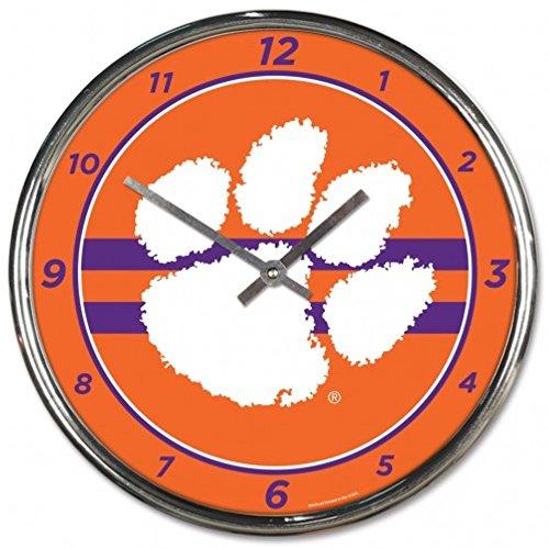 - NCAA Clemson Tigers WinCraft Official Chrome Clock