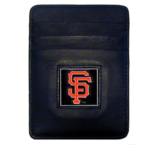 MLB San Francisco Giants Leather Money Clip/Cardholder - Giants Mlb Leather