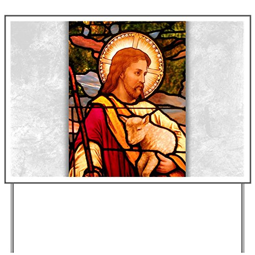 - Yard Sign Jesus Christ Lamb Stained Glass