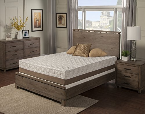 "Blissful Nights Dahlia 11"" Bamboo Charcoal Memory Foam Mattress, by"