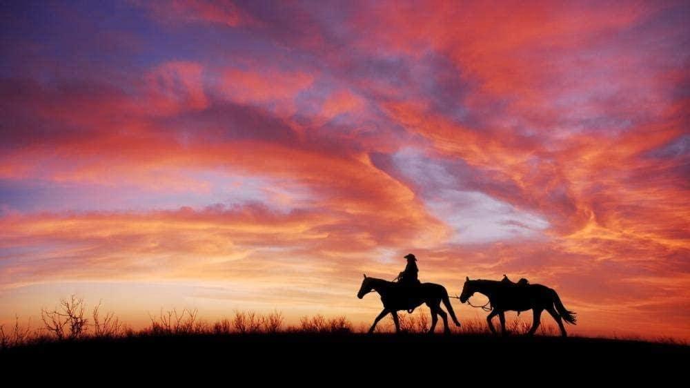 HD Rompecabezas de 1000 piezas para adultos Hombre montando un caballo en la puesta del sol 70x50cm Decoración del hogar Juguetes de madera Juegos divertidos Juguete educativo para niños Rompecabezas