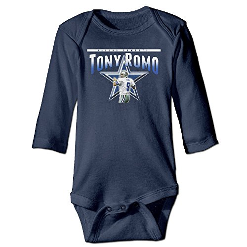 Navy Tony Romo Funny Toddler Long Sleeve Unisex-Baby Baby Onesie