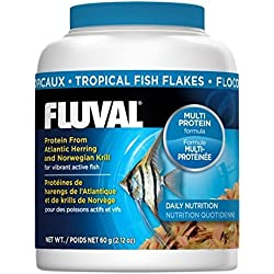 60gm Fluval Tropical Flakes Fish Food, 2.12-Ounce