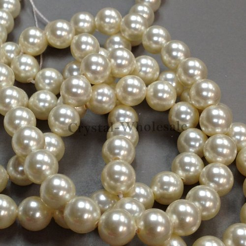 100 pcs Swarovski 5810 Crystal Pearls beads 6mm CREAM PEARL (001 620)