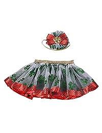 Theshy Baby Girls Kids Christmas Tutu Ballet Skirts Fancy Party Skirt + Hair