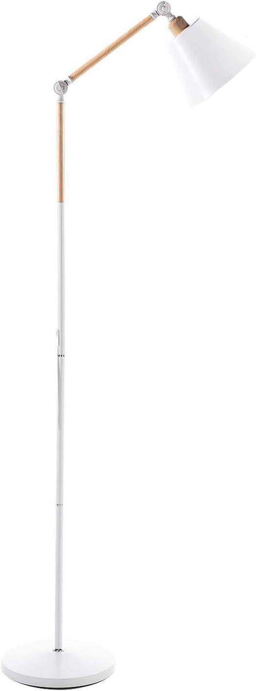 Schwarz LED Stehlampe Modern Einstellbar Stehleuchte E27 9W Birne Eingeschlossen Bodenlampe f/ür Lesezimmer Wohnzimmer Schlafzimmer