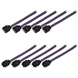 10cm 4Pin 5PCS Male + 5PCS Female RGB Connector Wire Cable for 3528 5050 SMD LED Strip Light