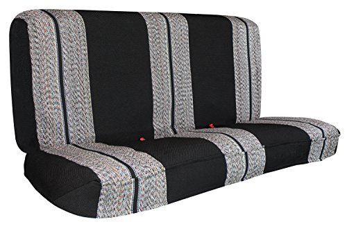 Saddle Blanket Black Full Size Pickup Trucks Bench Seat Cover Universal Fits for Chevrolet Dodge Ford Bench Seats