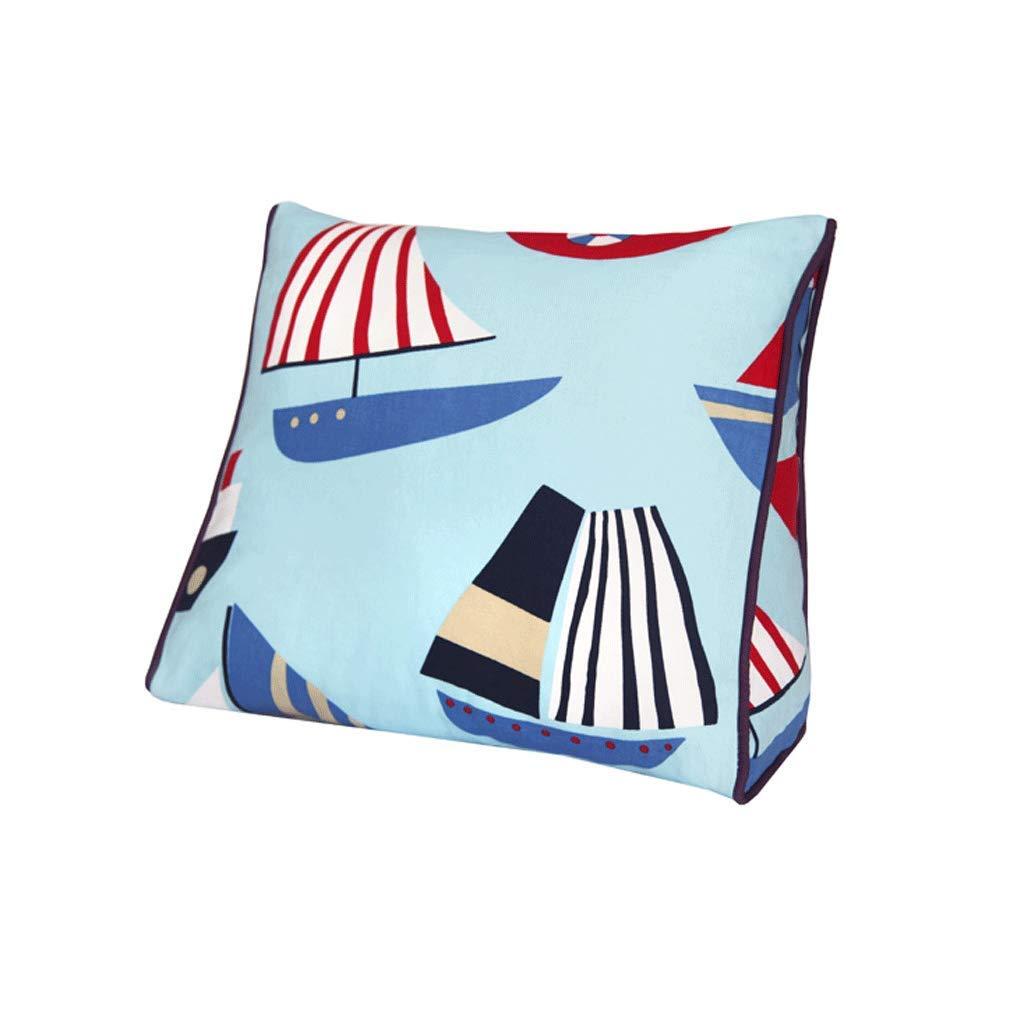 WXH Cushions Baumwolle Kissen Dreieck Kissen Wohnzimmer Kissen Büro Lendenkissen Geschenk SegelStiefel Tasche A+ B07GLMMWT6 Kopfkissenbezüge