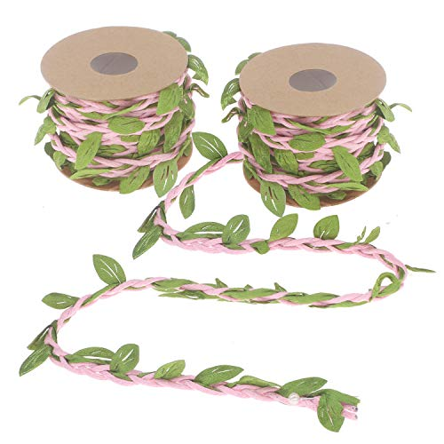Soleebee 2 Rolls 5.5 Yards Artificial Vines Fake Foliage Ivy Green Leaf Plant Garland Perfect Decorated Vine for DIY Craft Party Wedding Home Garden ()