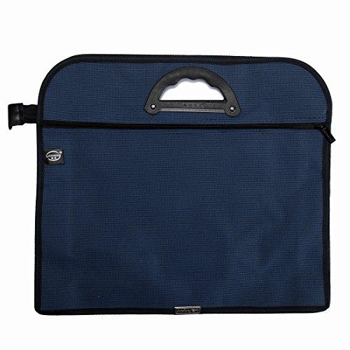 BinaryABC Document Bag Portable Double-layer Oxford Fabric Documents Pouch Bag (Dark Blue (Document Bag)