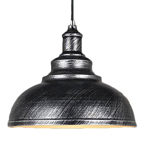 Silver Dome Pendant Light - 1