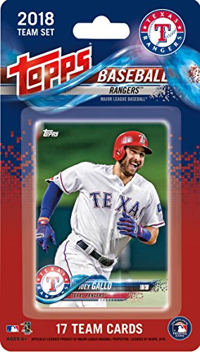 Texas Rangers Team Set - Texas Rangers 2018 Topps Factory Sealed Special Edition 17 Card Team Set with Elvis Andrus and Adrian Beltre plus Willie Calhoun Rookie and more