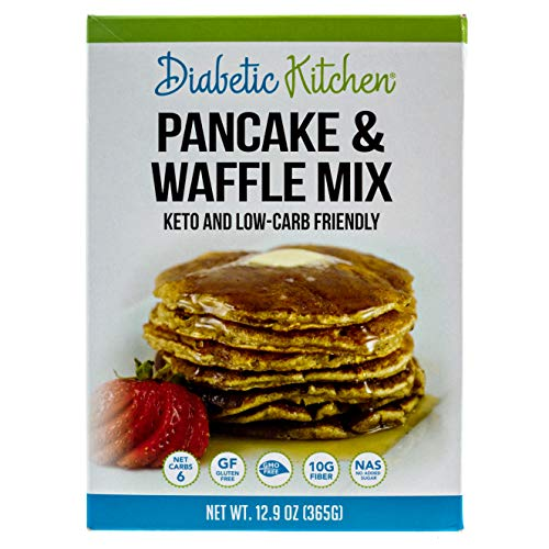 Diabetic Kitchen Pancake & Waffle Mix Is Keto-Friendly, Low-Carb, Gluten-Free, High-Fiber, No Artificial Sweeteners or Sugar Alcohols, Non-GMO and No Sugar Added (13 Servings) ()