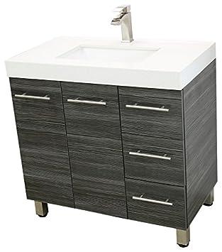WindBay 36 free standing bathroom vanity sink set Vanities sink