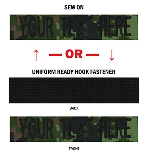 Custom Uniform Name Tapes, 50 Fabrics to choose from! Made in the USA! SHIPS UNDER 24 HRS! Canadian Digital, 5