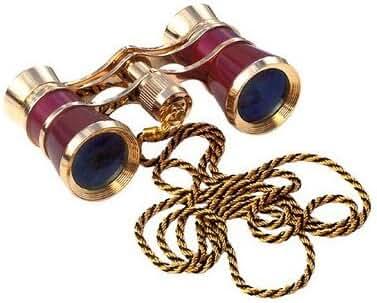 Carmen Opera Glasses Finish: Burgundy/Golden