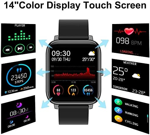 """Fitness Tracker, FirYawee Smart Watch for Android Phones,1.4"""" Touch Screen IP68 Waterproof Smartwatch with Heart Rate Monitor Sleep Monitor, Step/Distance/Calorie Counter Fitness Watch for Women Men 3"""