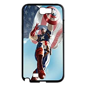 FOR Samsung Galaxy Note 2 Case -(DXJ PHONE CASE)-Super Hero Caption American-PATTERN 13