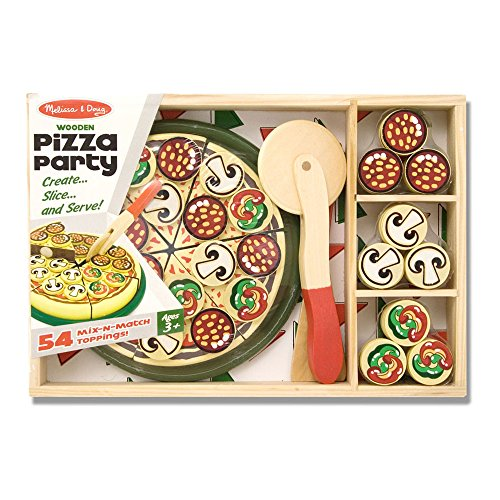 Melissa & Doug Pizza Party Wooden Play Food Set With 54 Toppings by Melissa & Doug (Image #6)