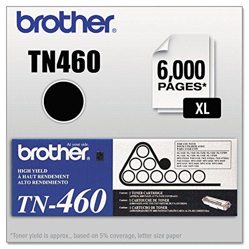 - Brother TN460 Black Toner Cartridge - Laser - 6000 Page - Black - 1