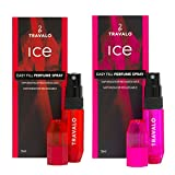 Ice Atomizer Travalo Fragrance Refiller, Red/Hot Pink, 2 Piece