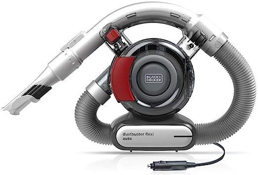 Black+Decker PD1200AV Aspirador de Mano para Coche, Ciclónico, Tubo Flexible, Adaptador para Mechero, 12 V, Rojo y Gris: Amazon.es: Coche y moto