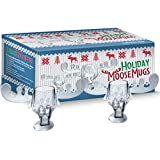 Holiday Moose Mugs - All the Fun of Christmas Vacation in a Gift Box Set of 2