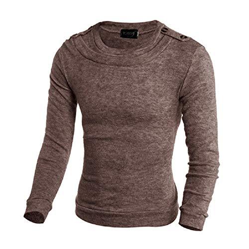 lunga Manica Maglione Metro Sweatshir Style Mens Top Pure Oudan As Autunno Kintwear Spring colore Marrone Sport Casual Shown Size Color Yxqw0qO