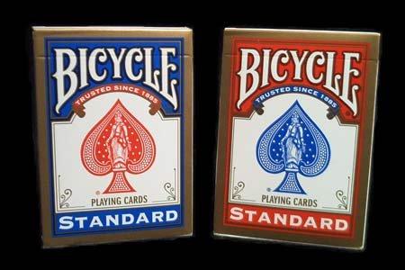 Spielkarten Bicycle (format poker) par 72 (36 rots/36 blaus) - USPCC