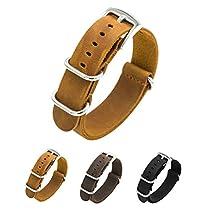 CIVO Genuine Crazy Horse Leather Watch Bands Handmade NATO Zulu Military Swiss G10 Style Watch Strap 20mm 22mm
