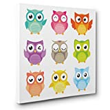 Colorful Owl Collection CANVAS Wall Art Home Décor