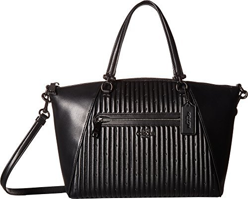 COACH Women's Quilted Leather Prairie Satchel Dk/Black One Size