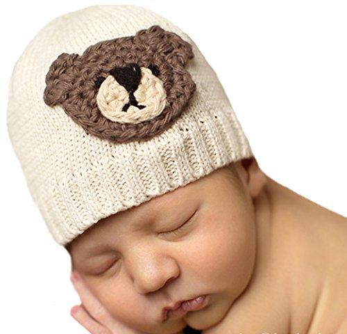 Melondipity's Teddy Bear Face Boy Hat (Newborn)