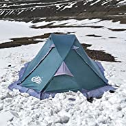 camppal Professional 1 Person Single Breathable 4 Season Mountain Tent, Lightweight Backpacking Tent, Strong D