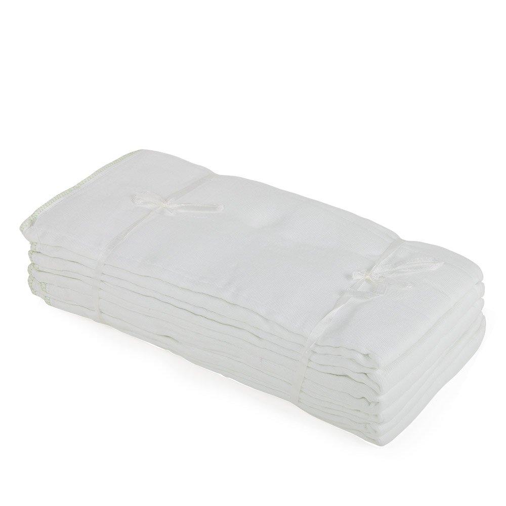Junior Joy 61962 - Pañales de algodón, previamente doblados, talla regular, 6 unidades, 44 x 33 cm, color blanco