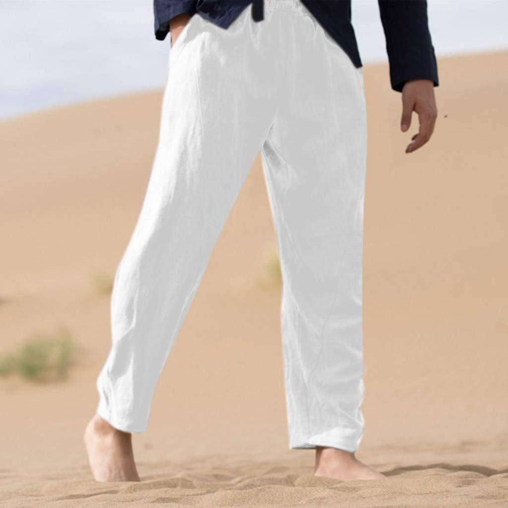 Snowbuff Pantaloni di Corda Pura di Canapa di Cotone Sciolto